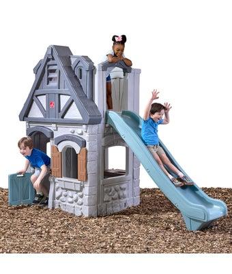 Enchanting Adventures 2-Story Playhouse & Slide