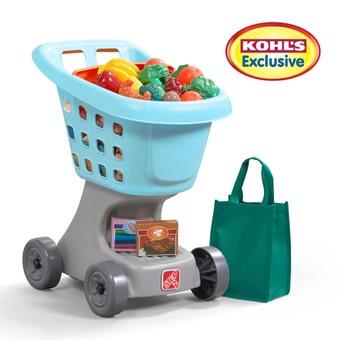 4862KL Little Helpers Cart and Shopping Set Light Blue 001