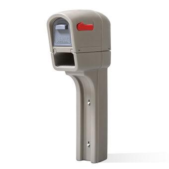 545200 Mailmaster Plus Post Mounted Mailbox Stone Gray 001