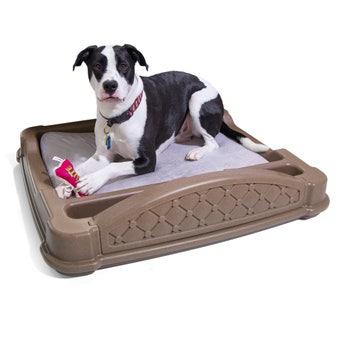 592999 Close N Cozy Hideaway Dog Bed Brown 001