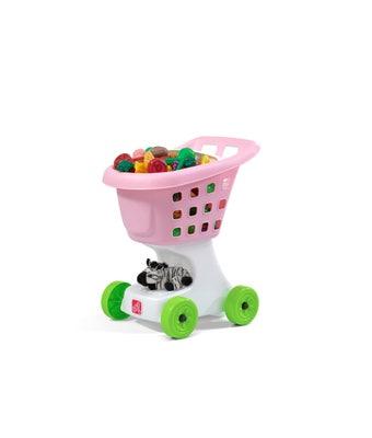 709700 Little Helpers Kids Shopping Cart Pink 001