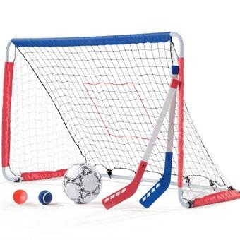 715199 Kickback Soccer Goal and Pitch Back 001