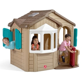 727000 Naturally Playful Welcome Home Playhouse Brown Roof 001