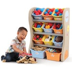 728900 Fun Time Room Organizer Kids Shelf Bins Tropical 001