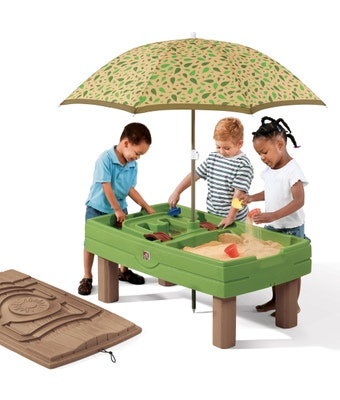 787899 Naturally Playful Sand and Water Activity Center Green and Brown 001