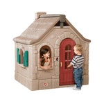 795900 Naturally Playful Storybook Cottage Playhouse Tan Maroon And Teal 001