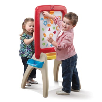 826899 All Around Kids Art Easel For Two Red 001