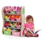 827400 Fun Time Room Organizer Kids Shelf Bins Pink 001827400-Fun-Time-Room-Organizer-Kids-Shelf-Bins-Pink-001.jpg