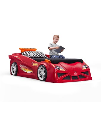 858100 Hot Wheels Toddlertotwin Race Car Bed Red 001